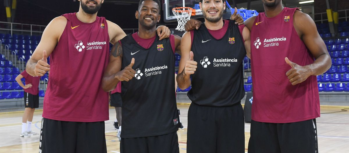First day of work for Barça's basketball team in 2019/20