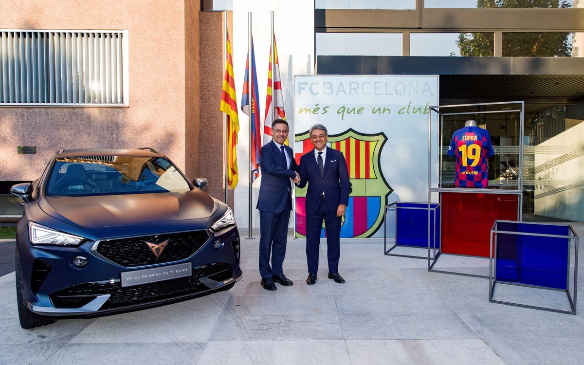 FC Barcelona and CUPRA join forces in a new global alliance for the next five seasons