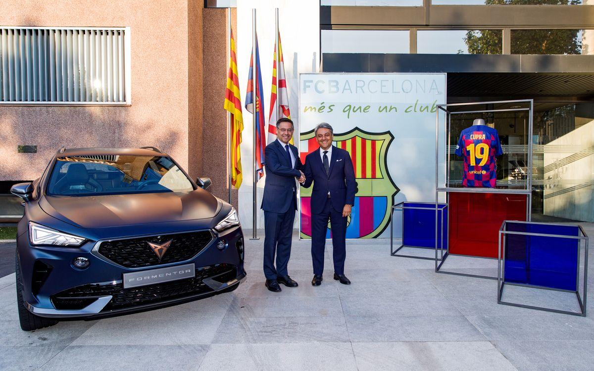 El FC Barcelona y CUPRA se unen en una nueva alianza global para las próximas cinco temporadas