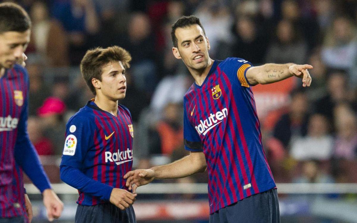 El debut de Riqui Puig amb el primer equip al Camp Nou