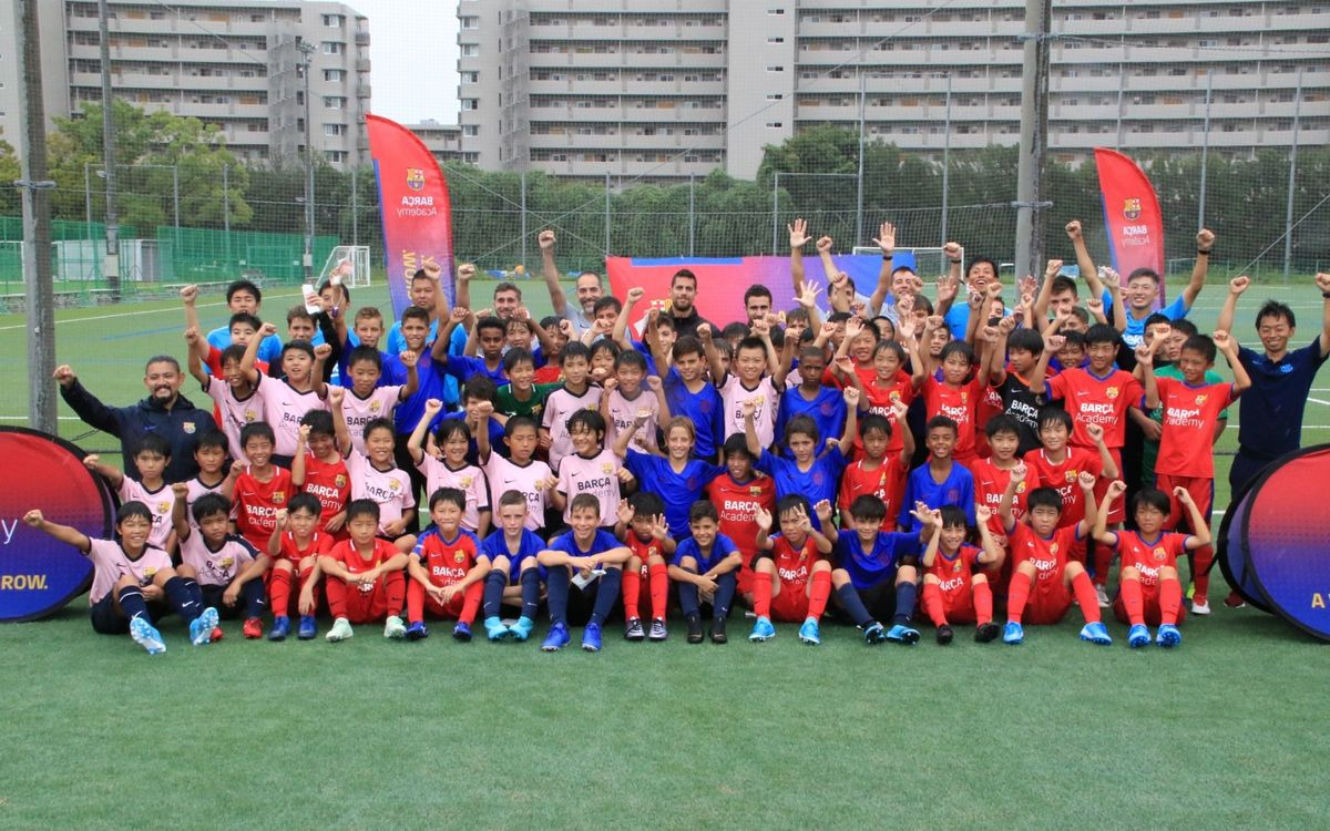 Trobada entre les Barça Academy del Japó i l'Infantil B a Osaka