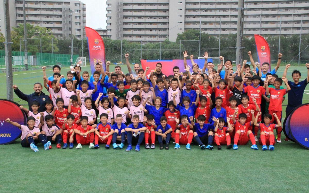 Encuentro entre las Barça Academy de Japón y el Infantil B en Osaka