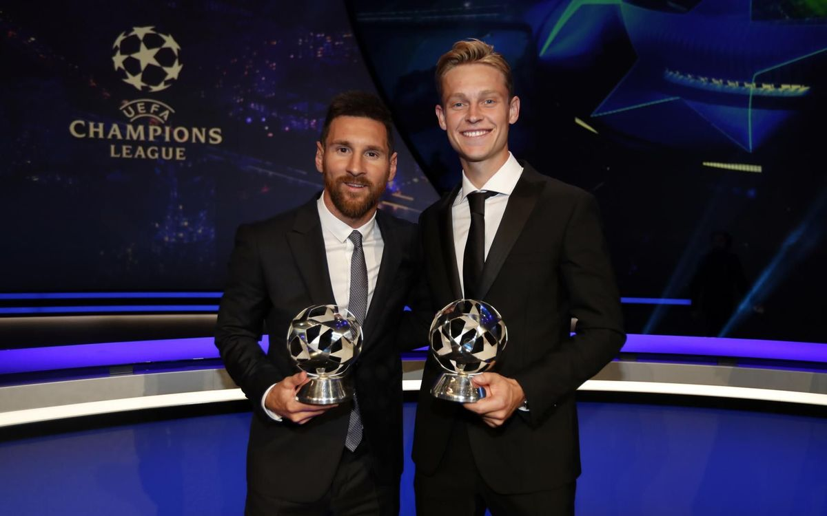 Messi and De Jong claim UEFA awards