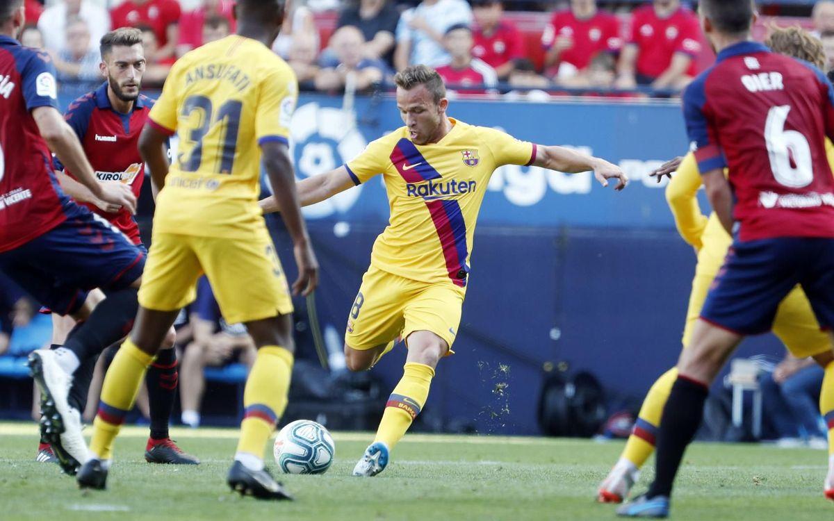 Osasuna – Barça: Empat agredolç a El Sadar (2-2)