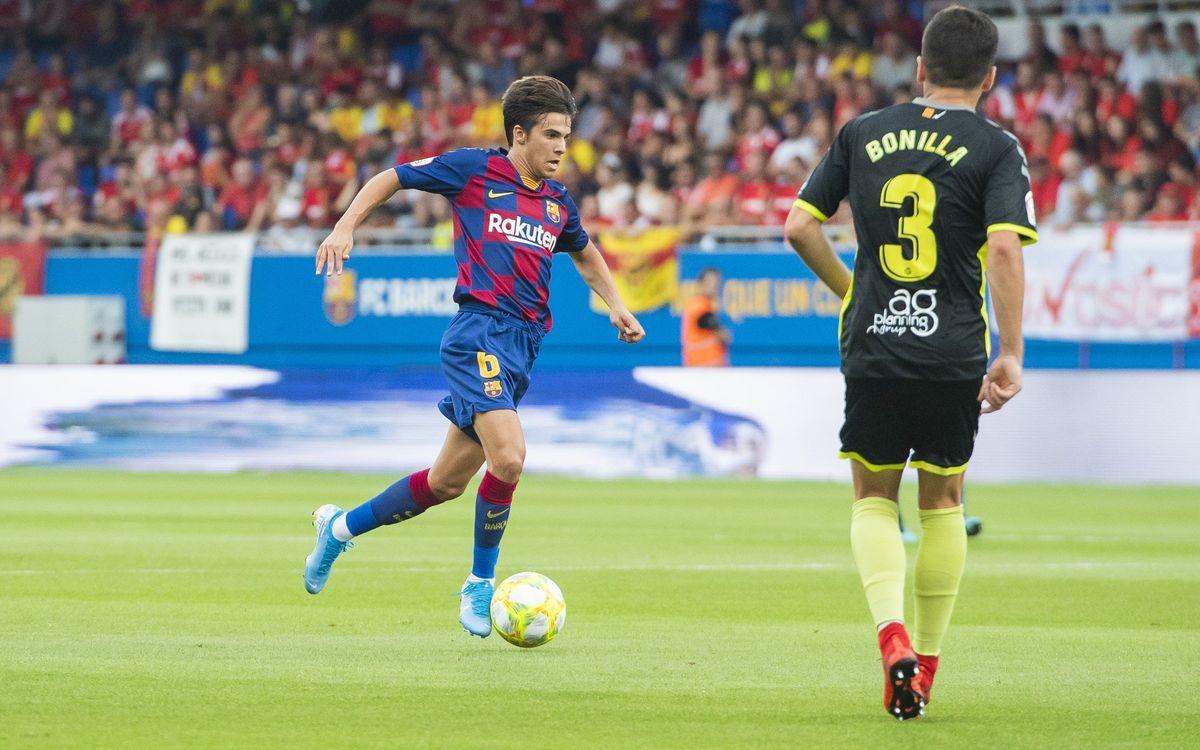 Barça B-Nàstic: Mereixien més en l'estrena oficial a l'Estadi Johan Cruyff (2-2)