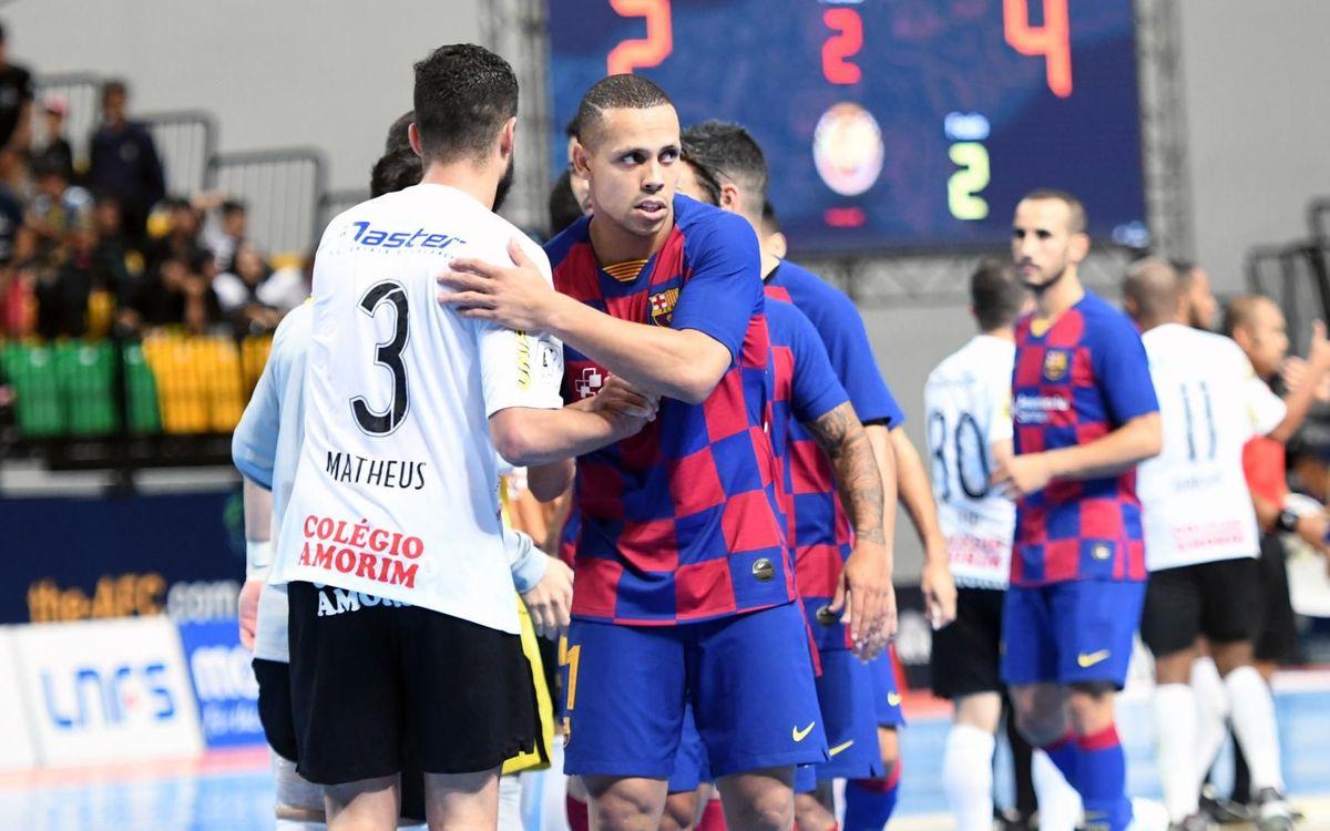 Barça-Corinthians: Finalizan en cuarta posición (2-4)