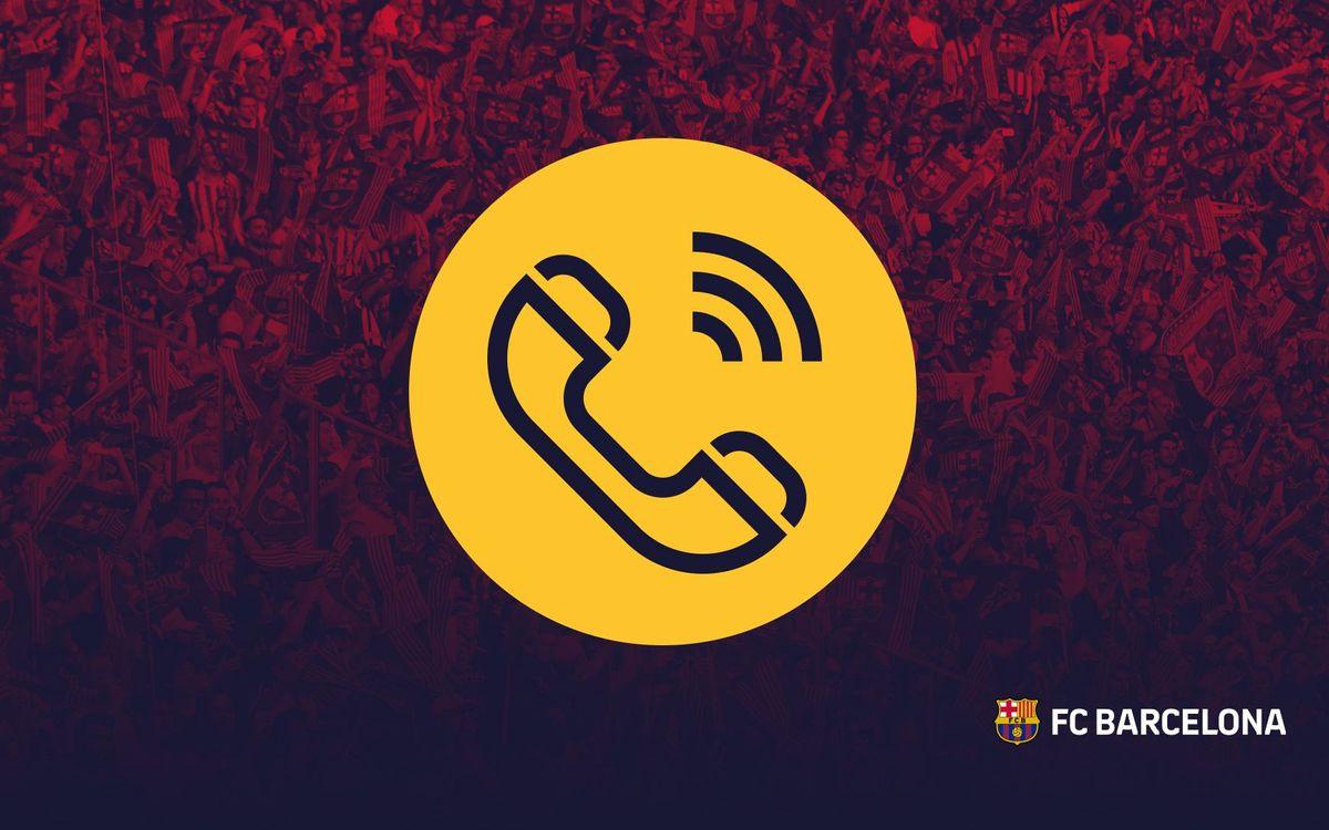 El Club habilita un número de telèfon exclusiu i gratuït per als seus socis