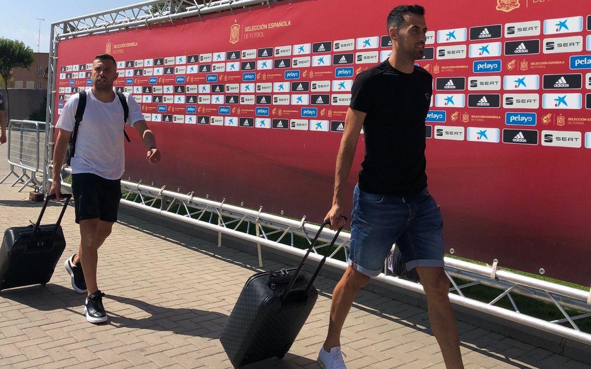Sergio y Alba, ya están en la Ciudad del Fútbol de Las Rozas - SeFutbol