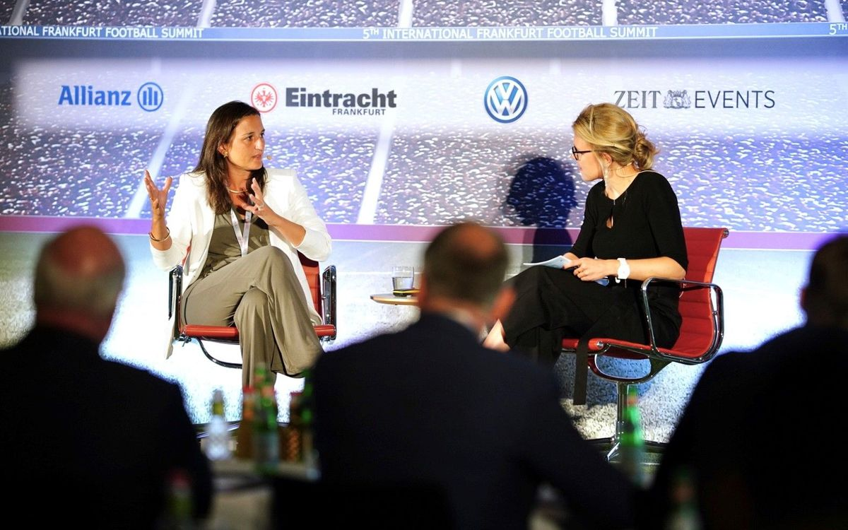 Maria Teixidor appears at International Frankfurt Football Summit