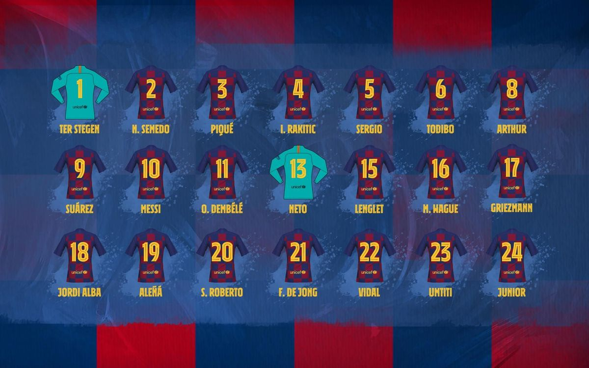 FC Barcelona shirt numbers confirmed