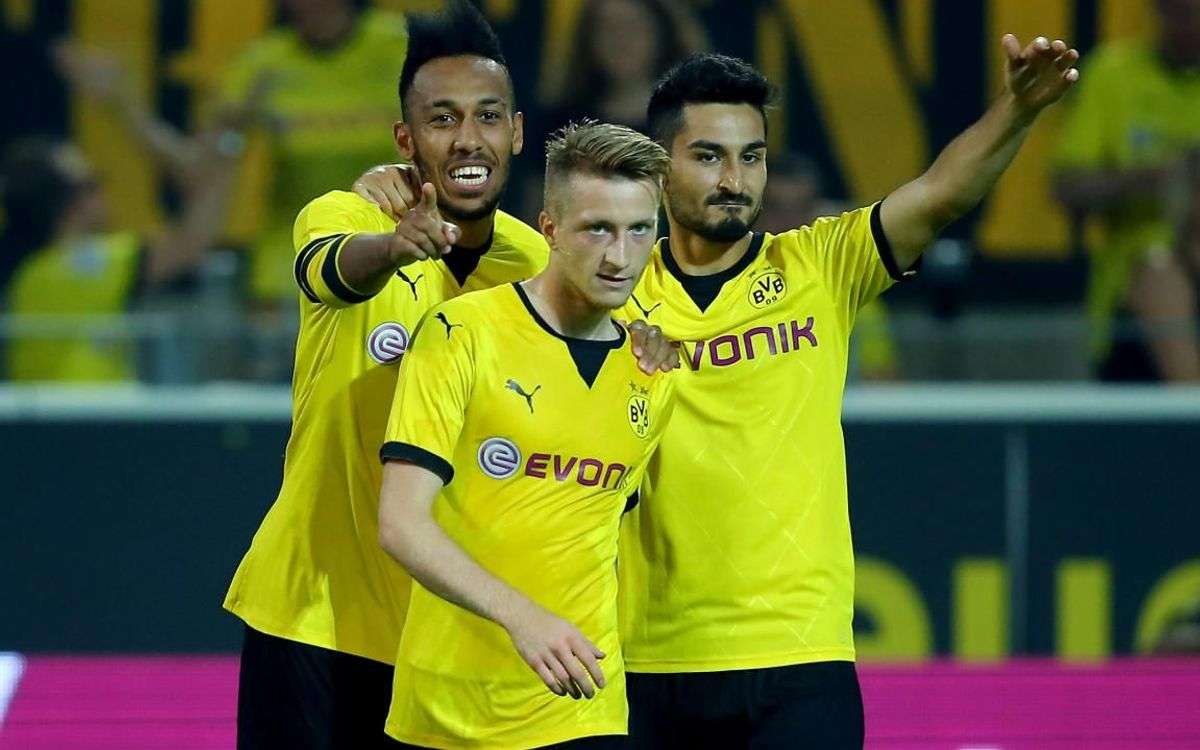 Aubameyang, Reus, and Gundogan - Photos UEFA
