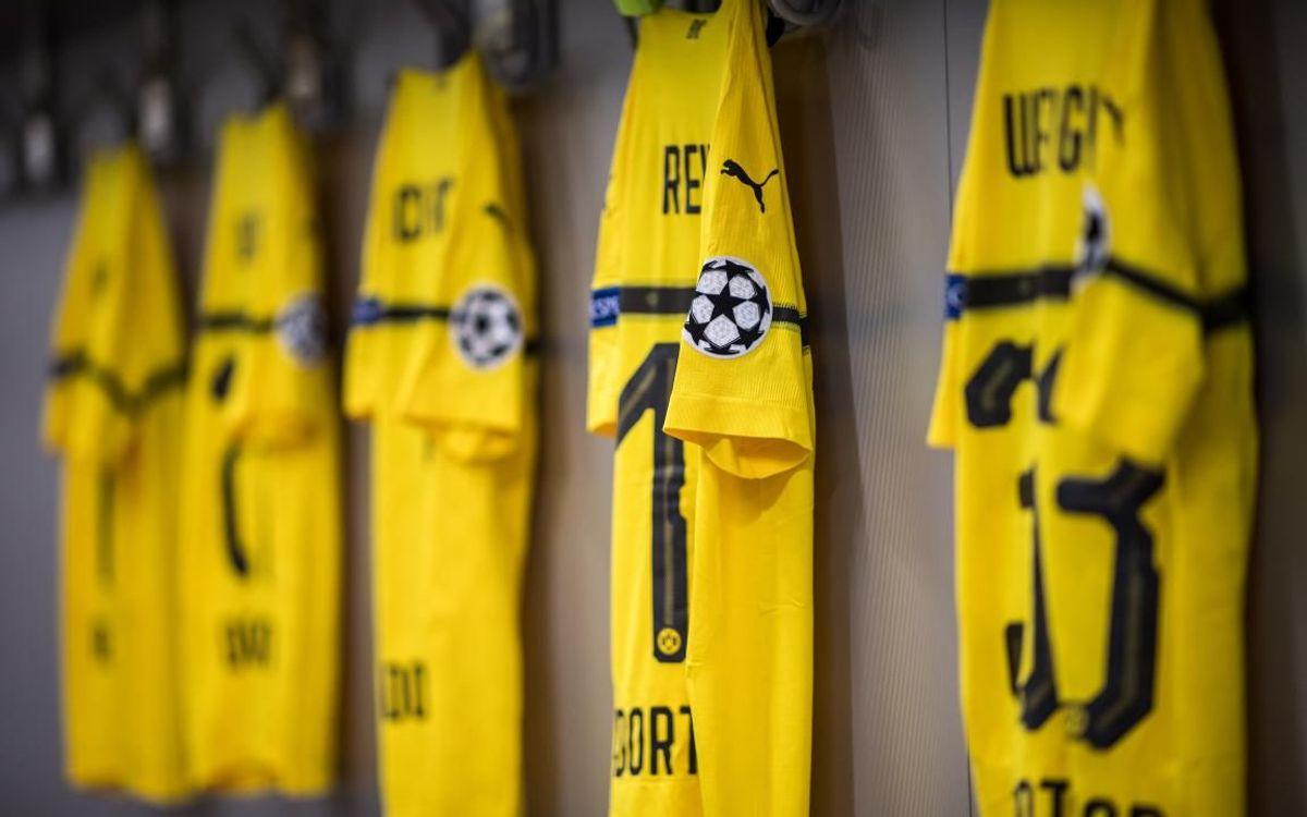 Samarretes del Borussia Dortmund per a la Champions - Fotos UEFA