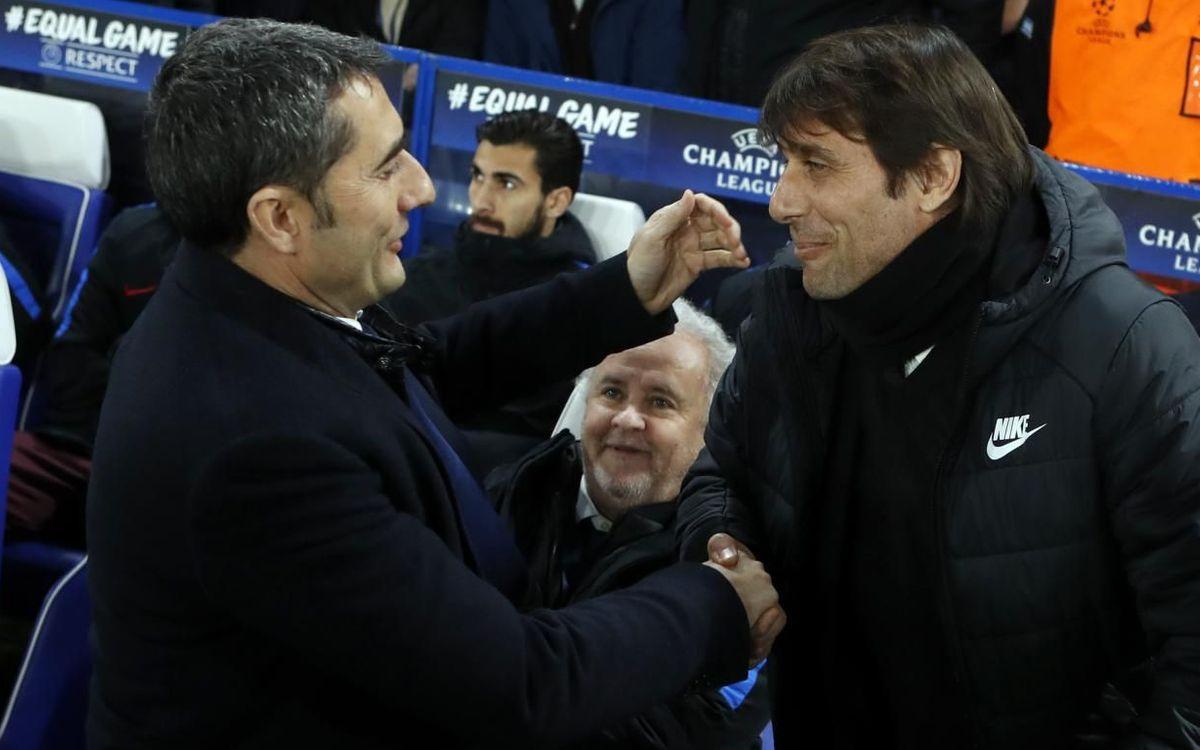 Ernesto Valverde i Antonio Conte quan dirigia al Chelsea - Miguel Ruiz FCB