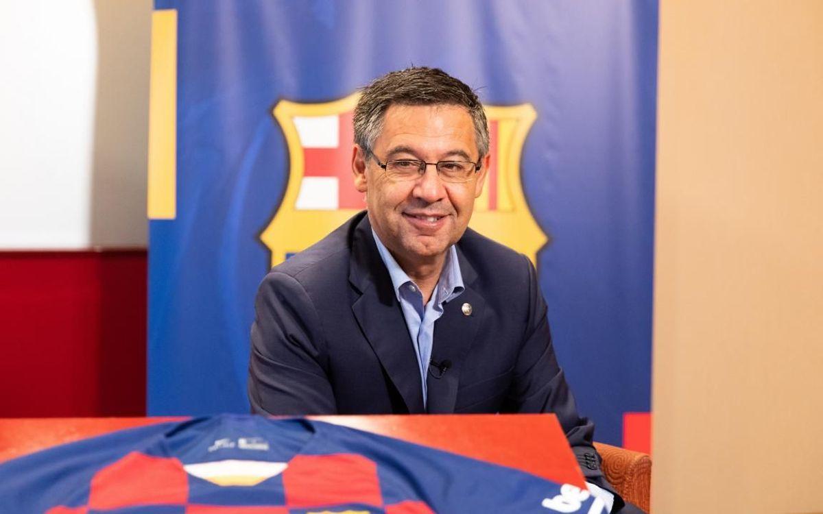 Barça TV: aquest divendres, entrevista a Bartomeu a les 19.30h