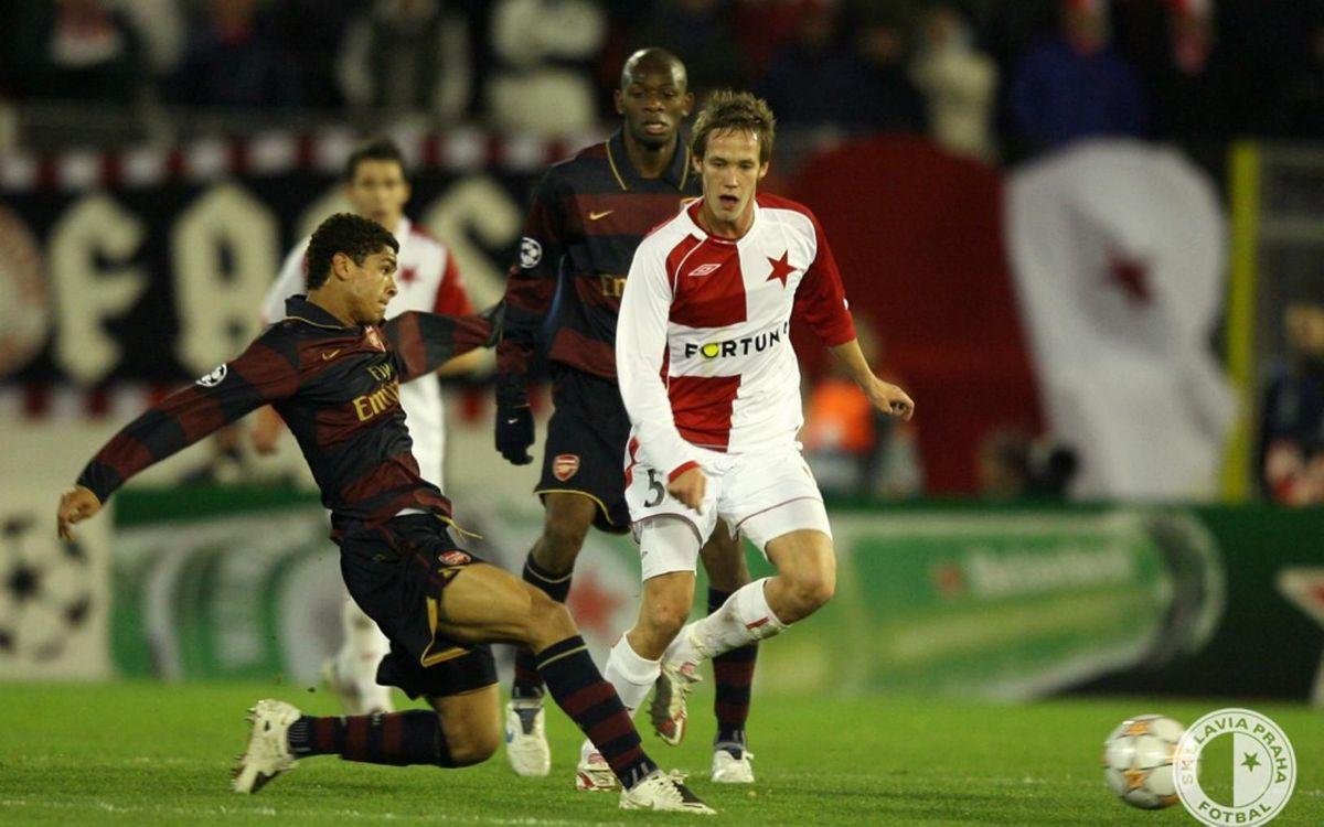 El 0-0 ante el Arsenal en la fase de grupos de la Champions 2007/08 permitió al Slavia acceder a la Europa League - Slavia de Praga