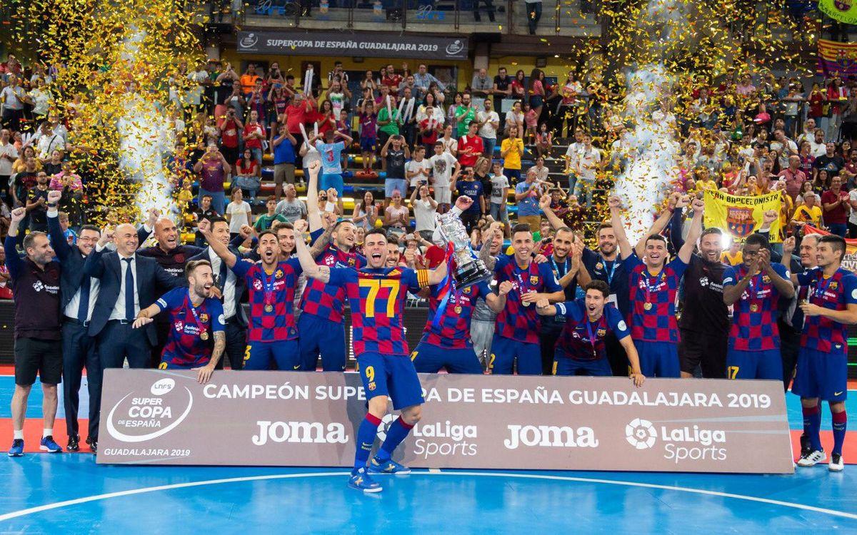 Barça - ElPozo Murcia: La Supercopa de España es azulgrana (4-3)