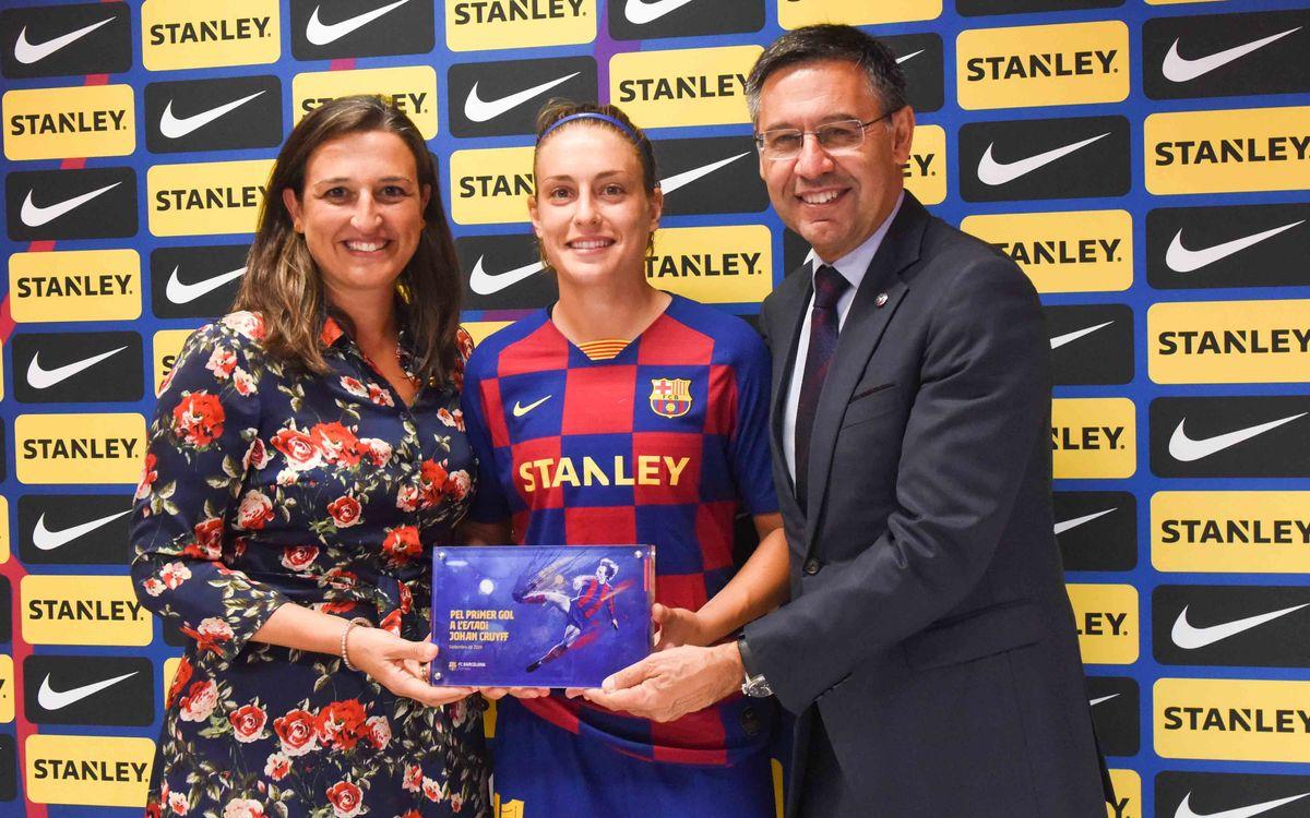Alexia, primera goleadora de la historia del Estadio Johan Cruyff