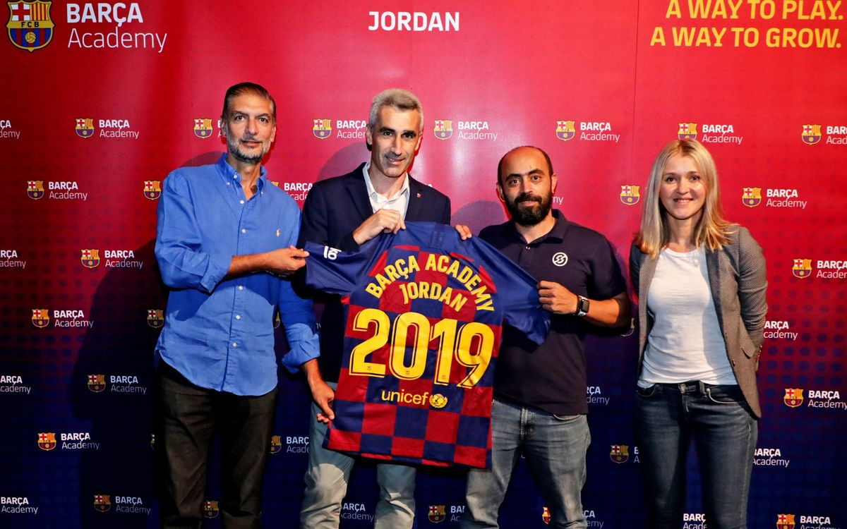 The Barça Academy in Jordan opens its doors