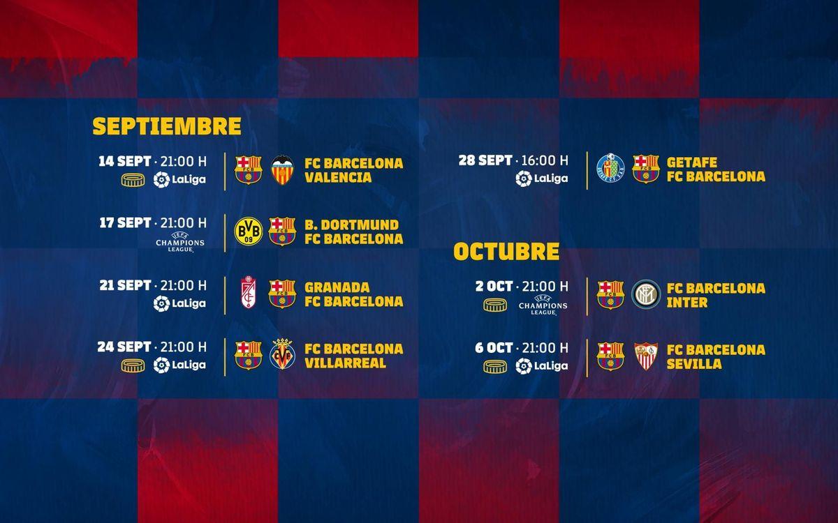 Los siete próximos partidos del Barça