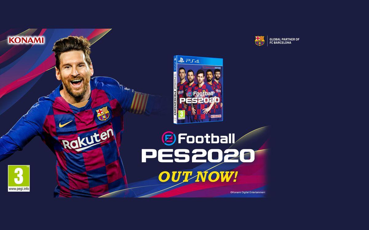 Messi, Suárez, Piqué, Jordi Alba y Busquets, protagonistas de la portada del nuevo eFootball PES 2020 Edición FC Barcelona