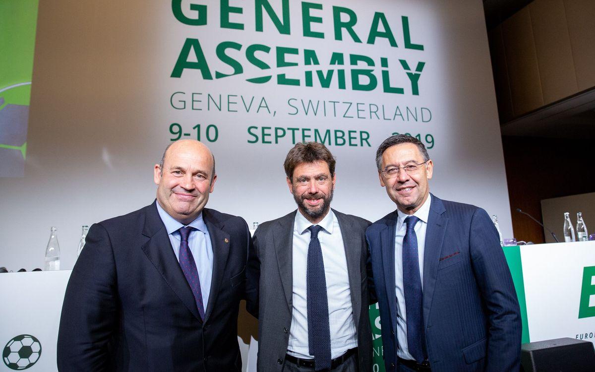 El FC Barcelona refuerza su presencia en el ECA