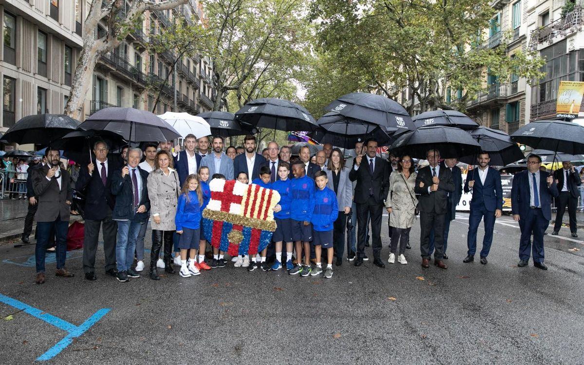 El FC Barcelona celebra la Diada Nacional de Catalunya de 2019