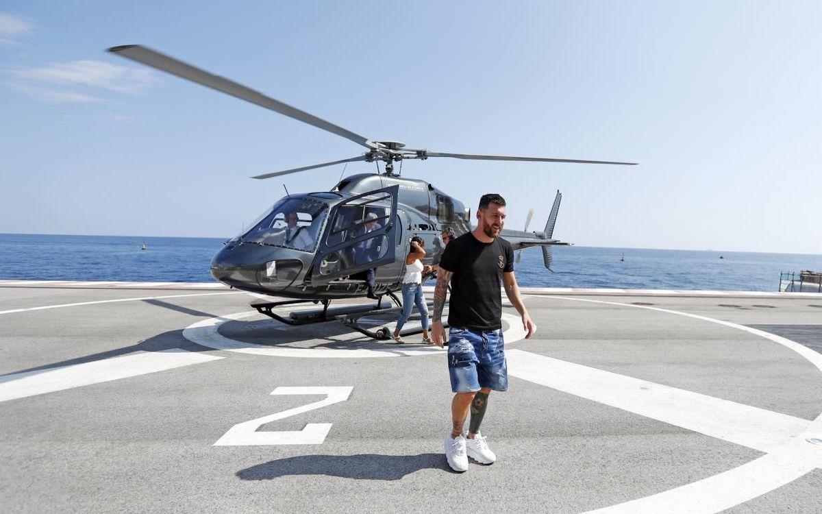 Messi, llegando a la gala UEFA del pasado mes de agosto.