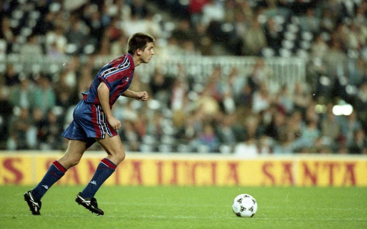 Albert Celades torna al Camp Nou