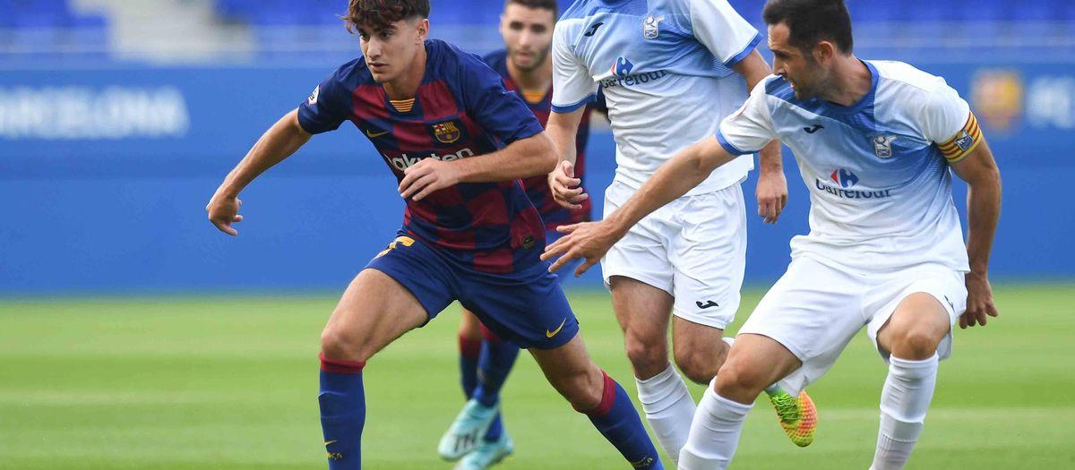 Barça B- Prat: Cruel final en un gran partit del filial (2-2)