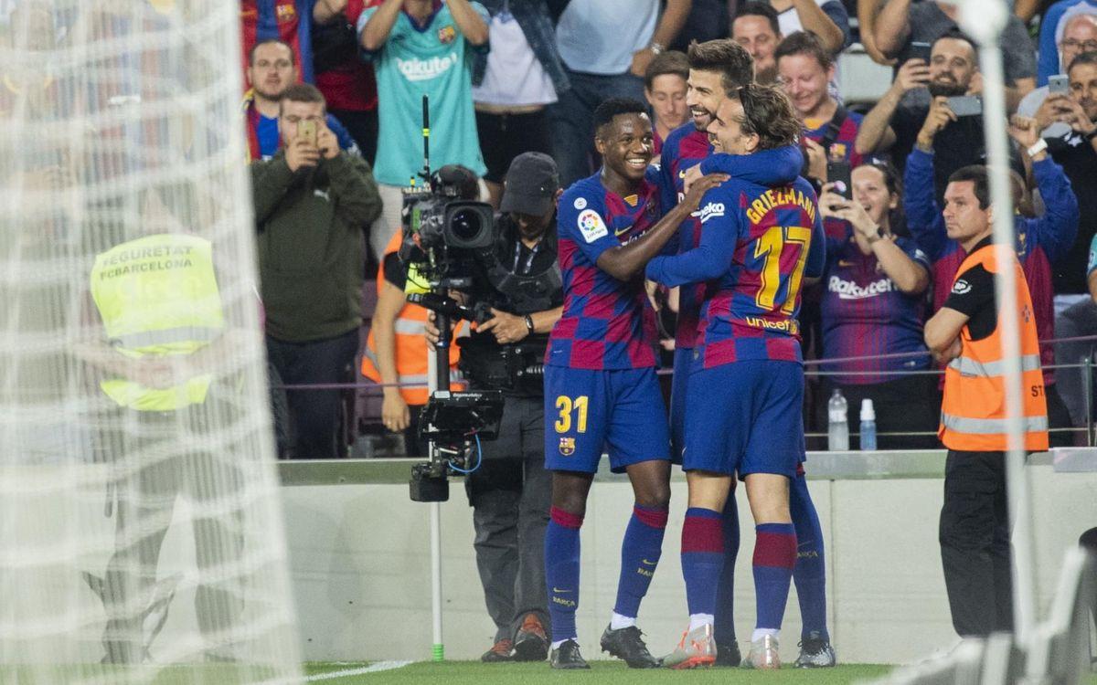 Goleada coral en el Camp Nou (5-2)