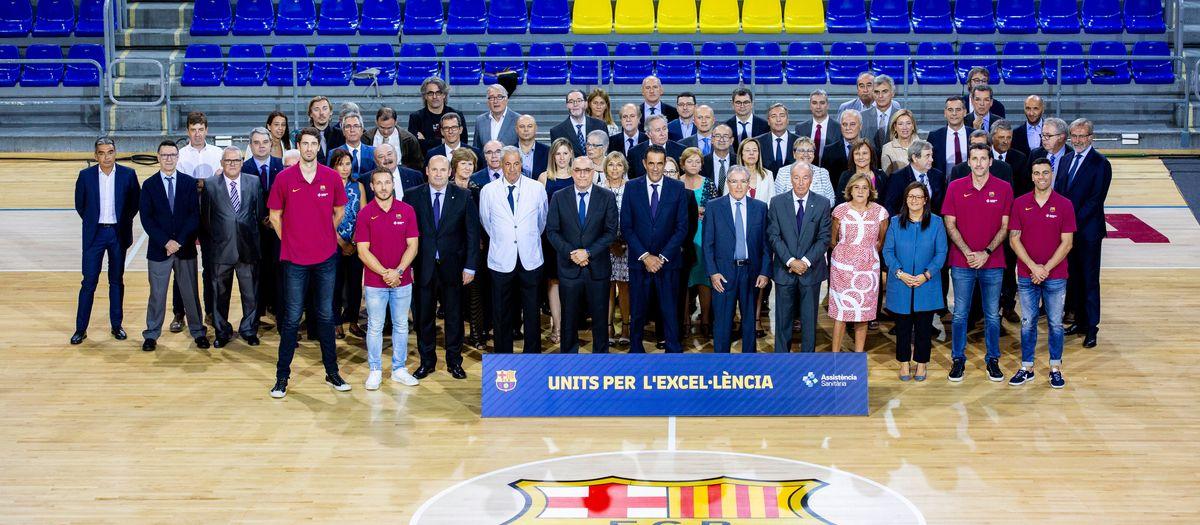 El FC Barcelona y Assistència Sanitària presentan el acuerdo de patrocinio de los deportes profesionales del Club