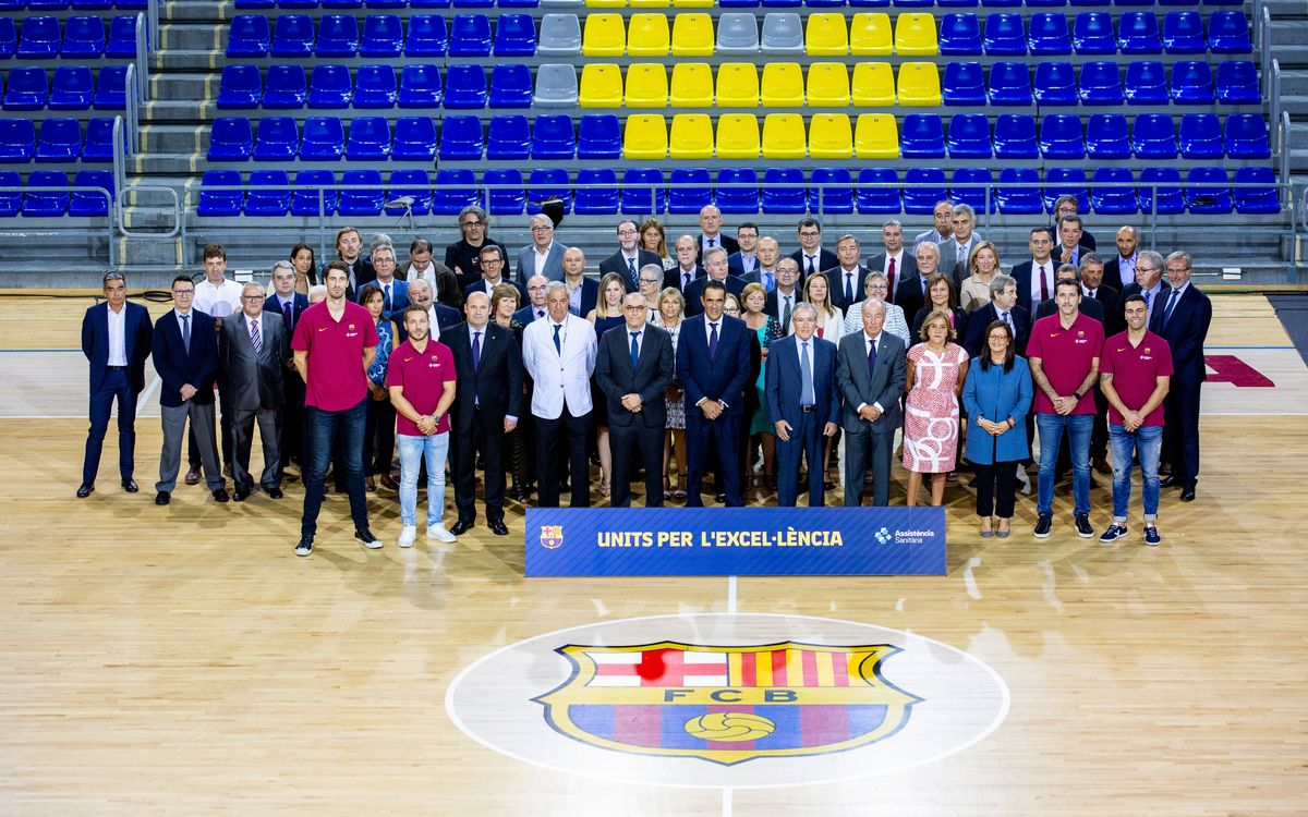 El FC Barcelona i Assistència Sanitària presenten l'acord de patrocini dels esports professionals del Club