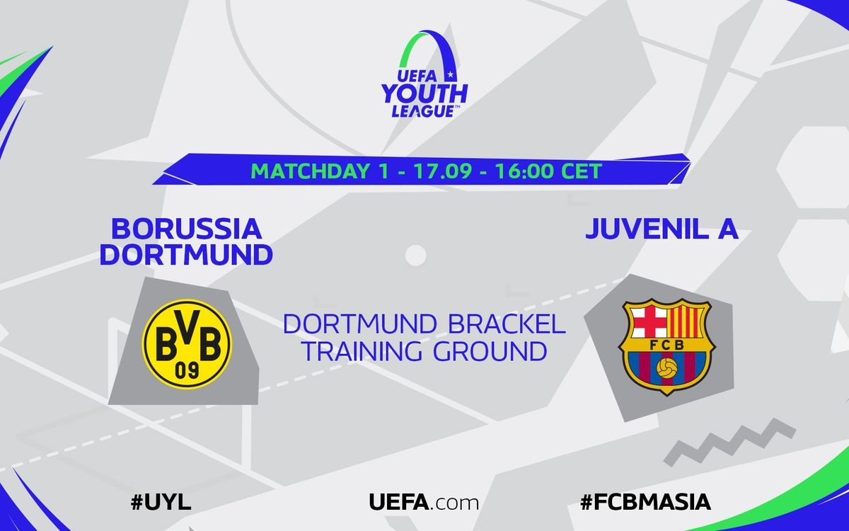 Borussia Dortmund – Juvenil A (prèvia): A signar un bon debut a Europa