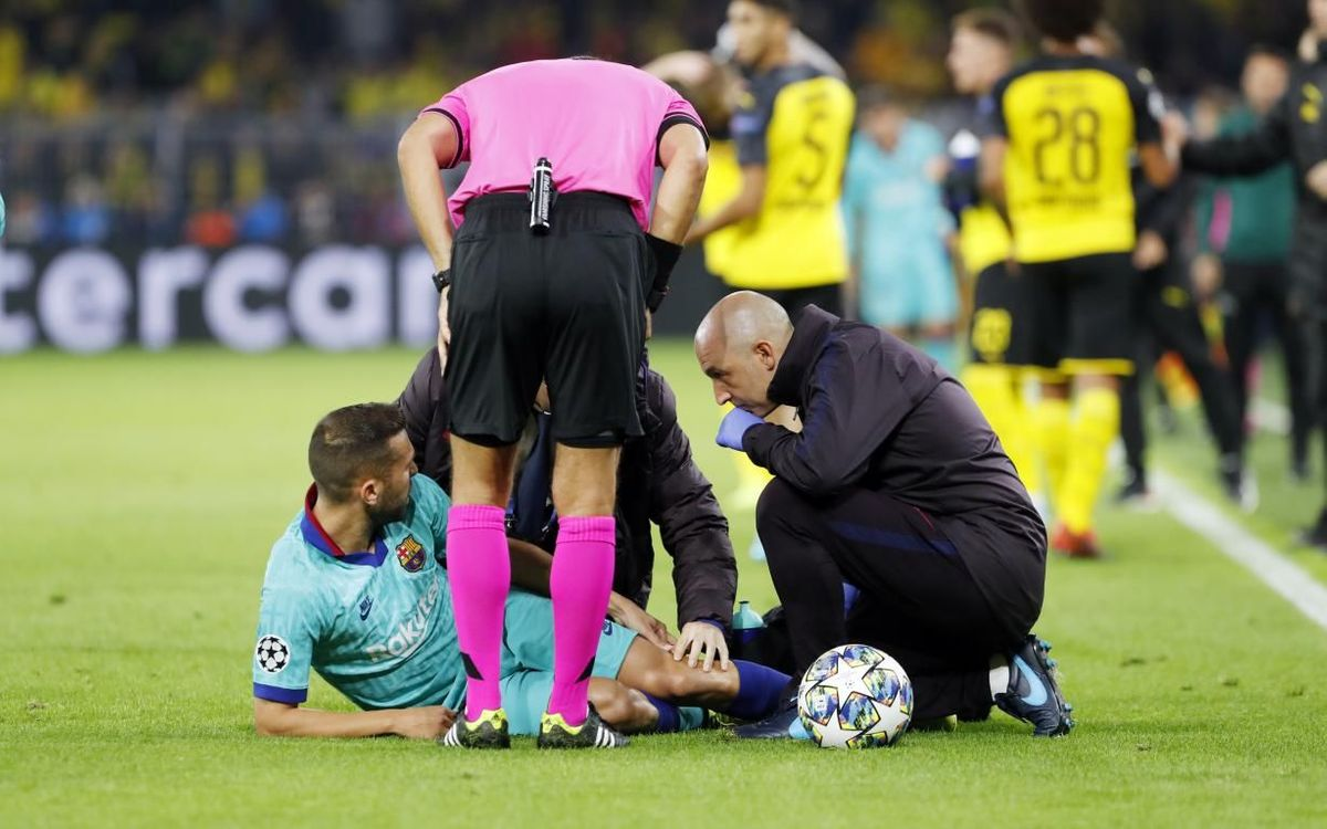 Hamstring injury for Jordi Alba