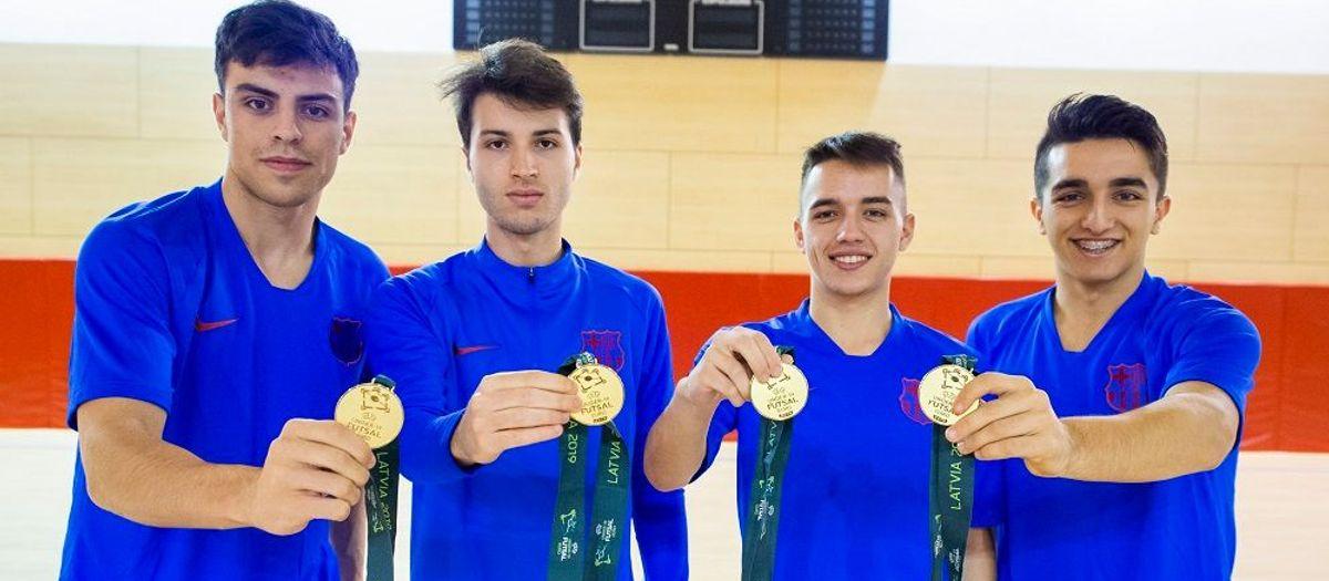El filial recupera a los cuatro campeones de Europa