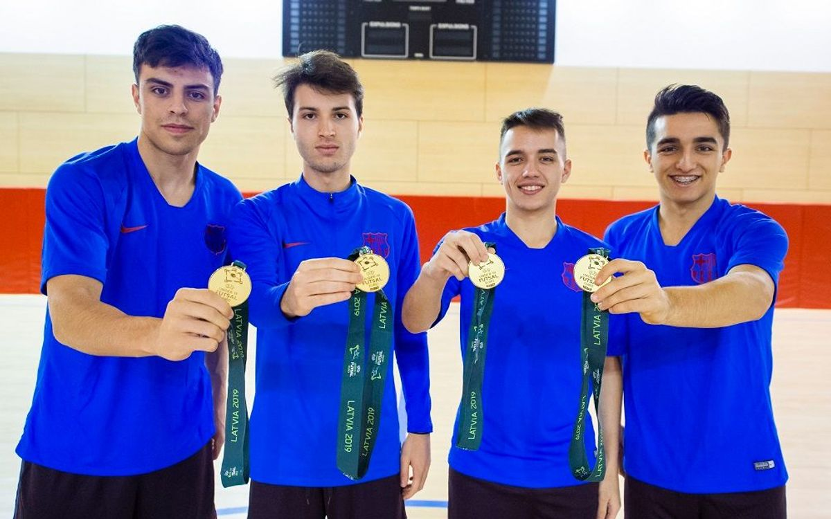 El filial recupera als quatre campions d'Europa