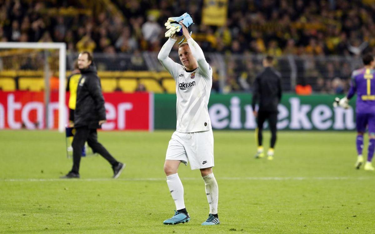 Ter Stegen, hero in Dortmund.