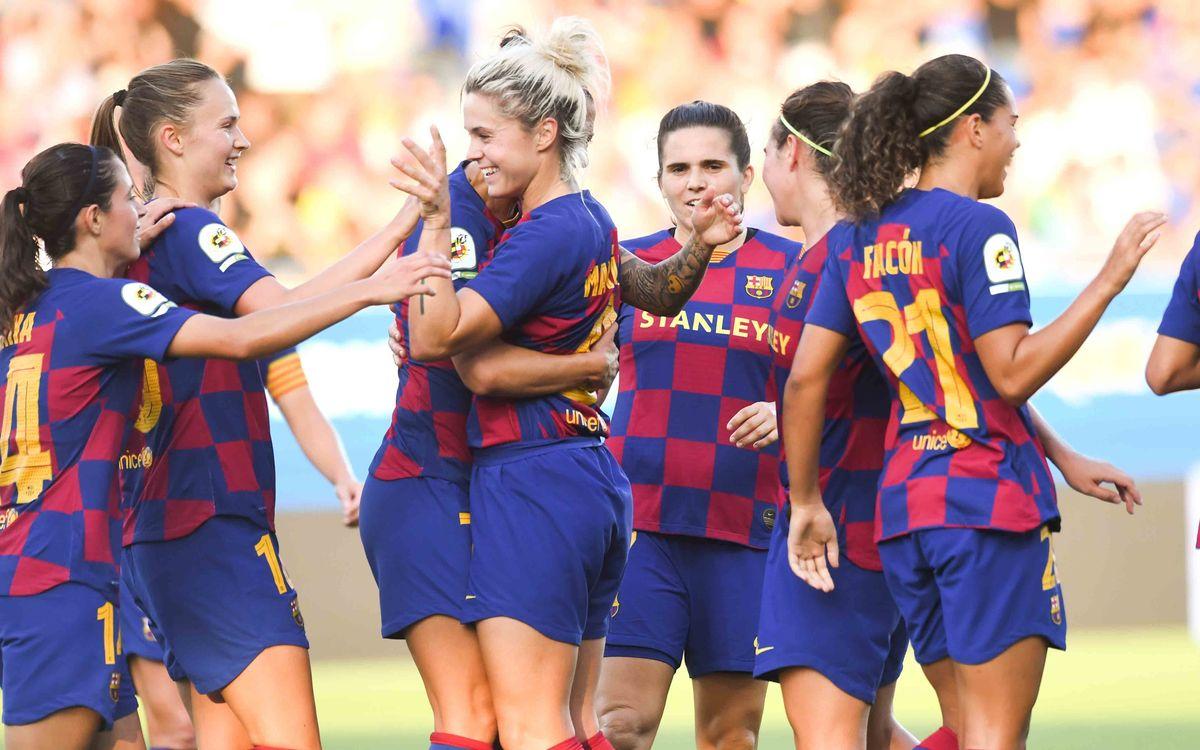 Anima al Barça Femenino y al Barça B en el Estadio Johan Cruyff