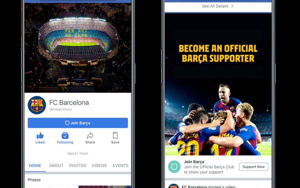 El Barça es seleccionado por Facebook para convertirse en el primer club deportivo que implemente su nuevo servicio