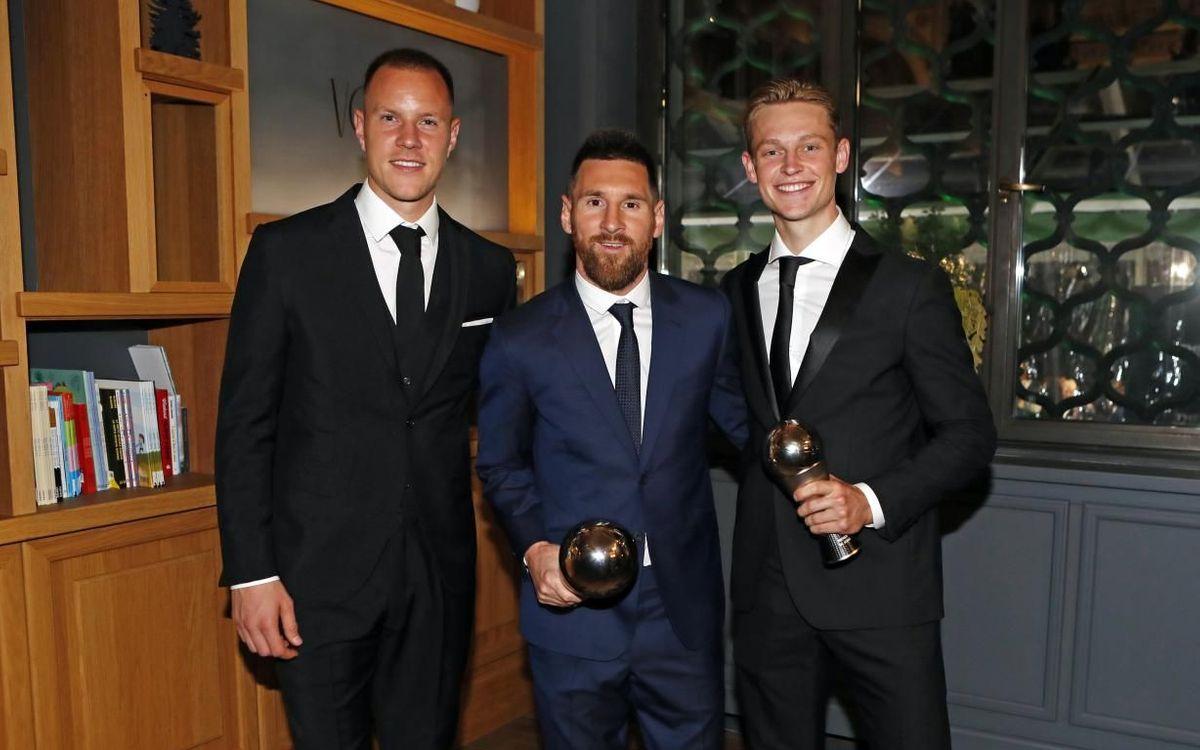 Messi (premi 'The Best') i De Jong formen part del FIFA FIFPro World 11. Ter Stegen ha estat finalista del 'The Best' al millor porter