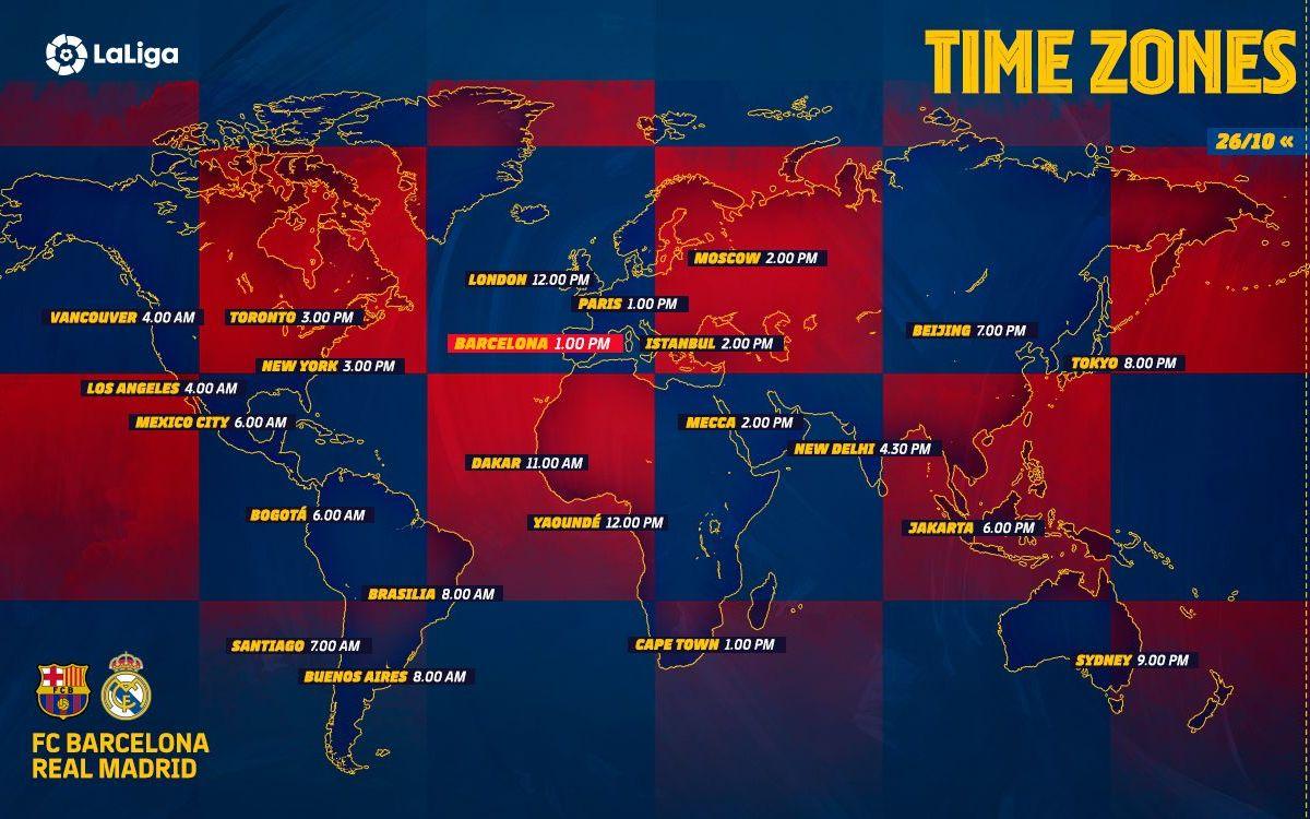 Los horarios del Barça-Madrid