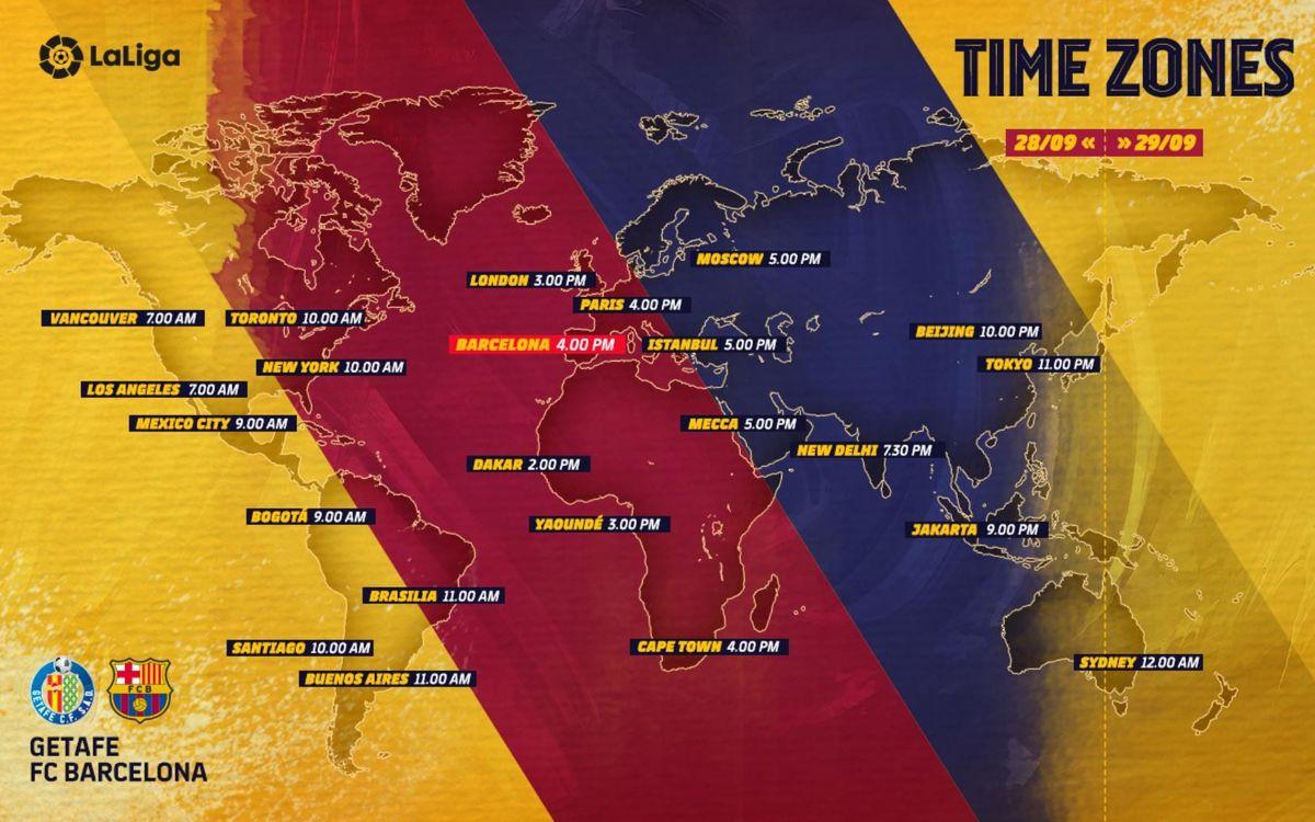 Los horarios del Getafe - Barça