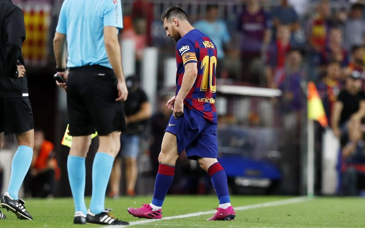 Messi has left adductor injury