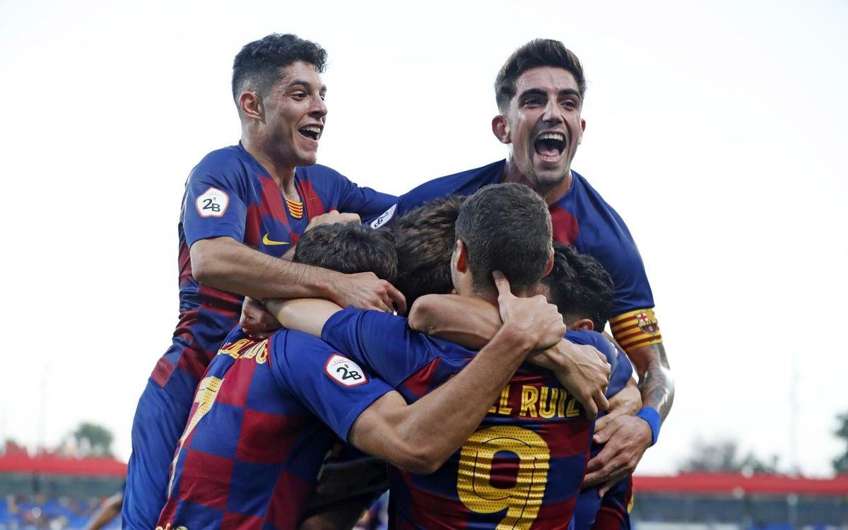 Barça B - Atlètic Llevant: Primera victòria a l'Estadi Johan Cruyff (2-0)