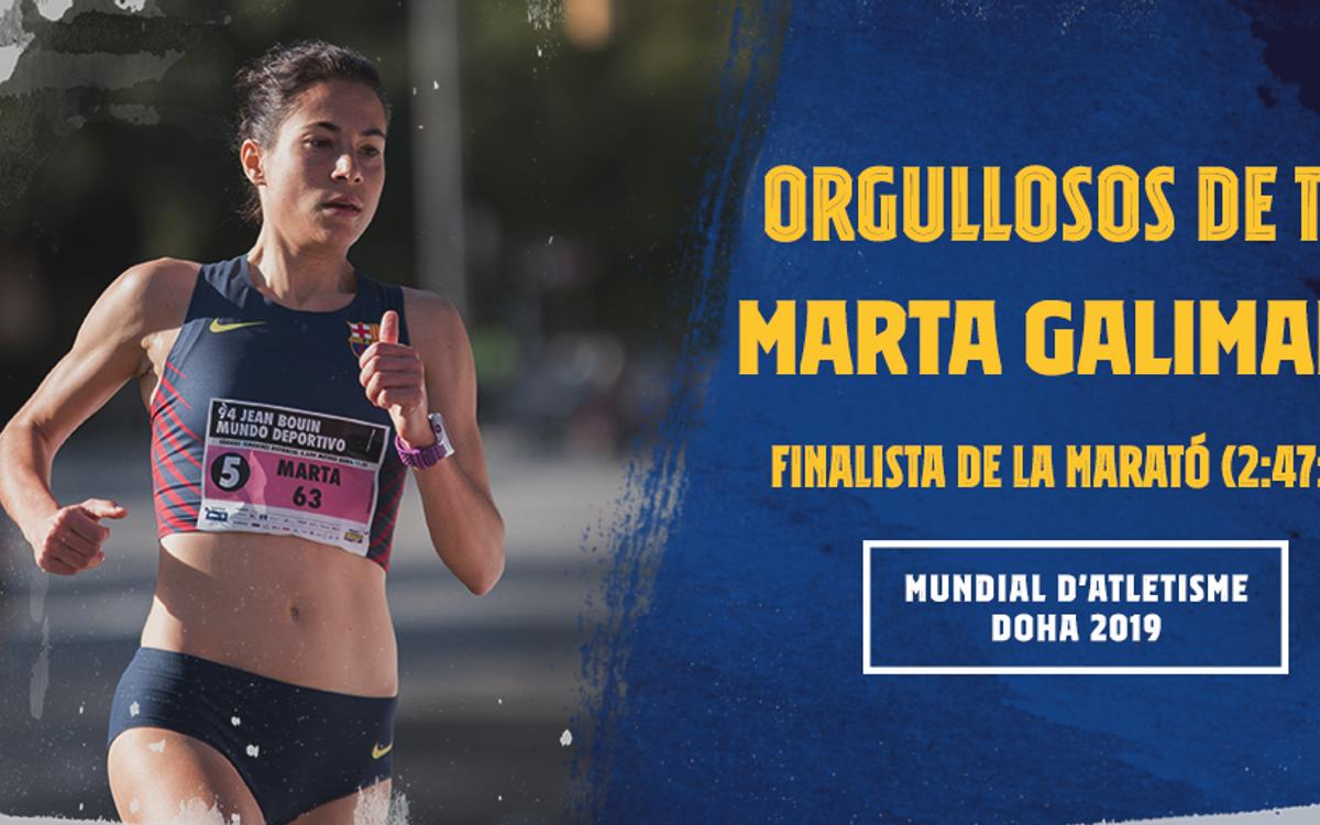 Marta Galimany brilla en el infierno de Doha