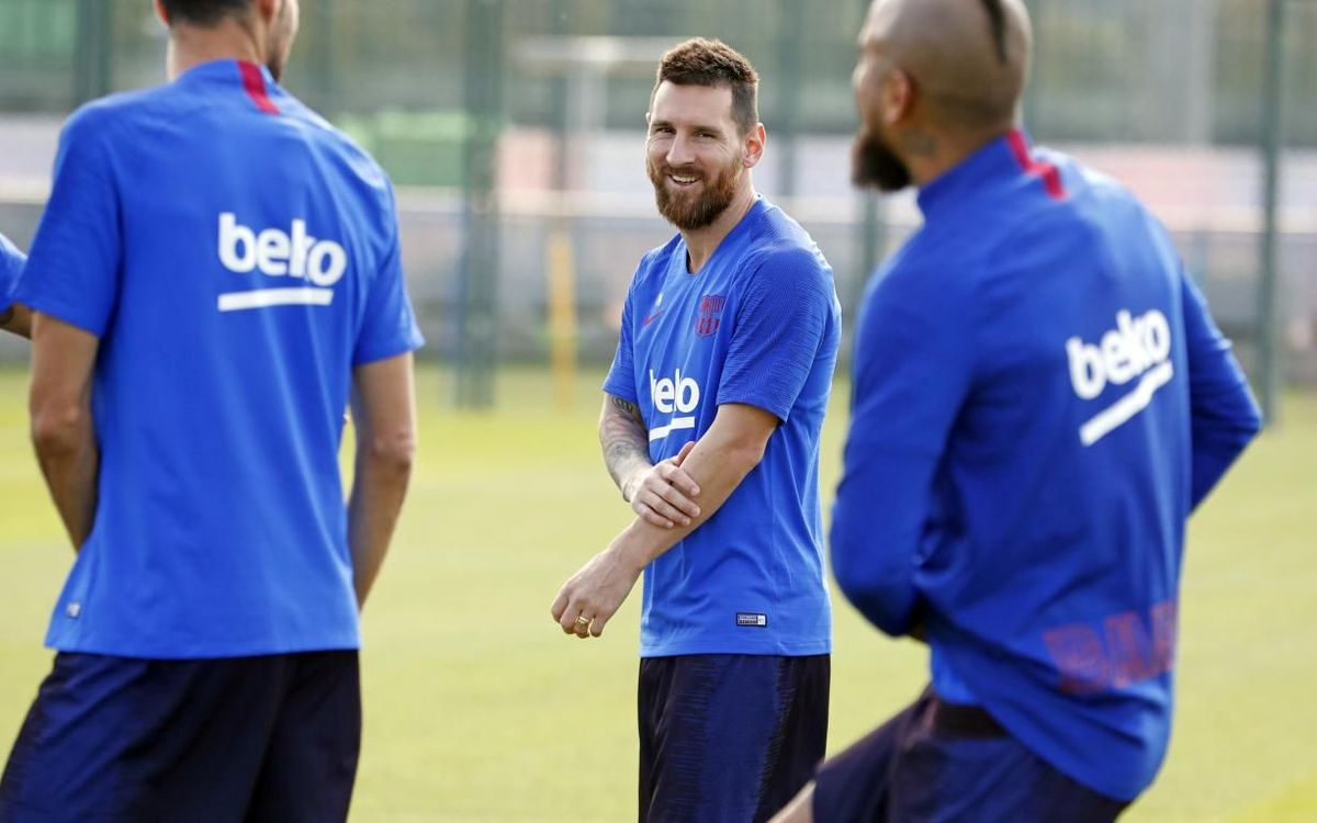 Messi i O. Dembélé fan part de l'entrenament
