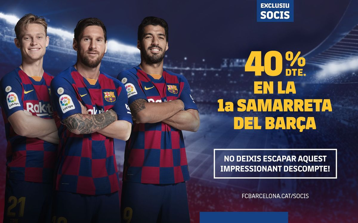 Descompte exclusiu del 40% en la compra de la samarreta del Barça