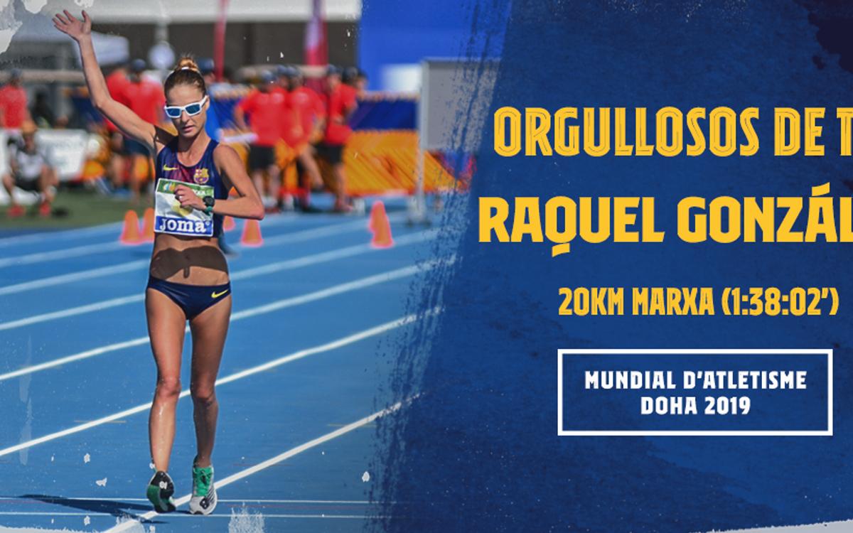 Raquel González finaliza decimoquinta el mundial
