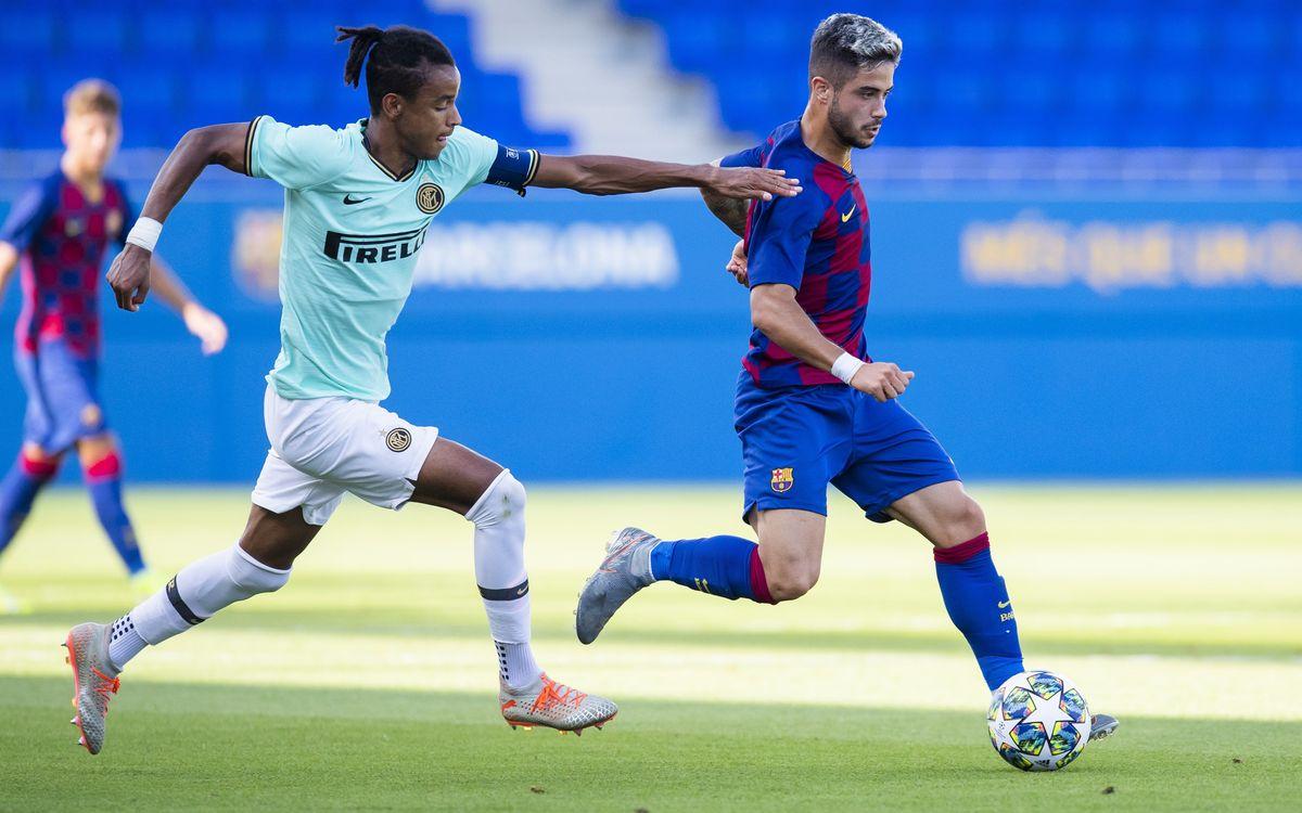 Juvenil A - Inter de Milán: Sin fortuna de cara a portería (0-3)