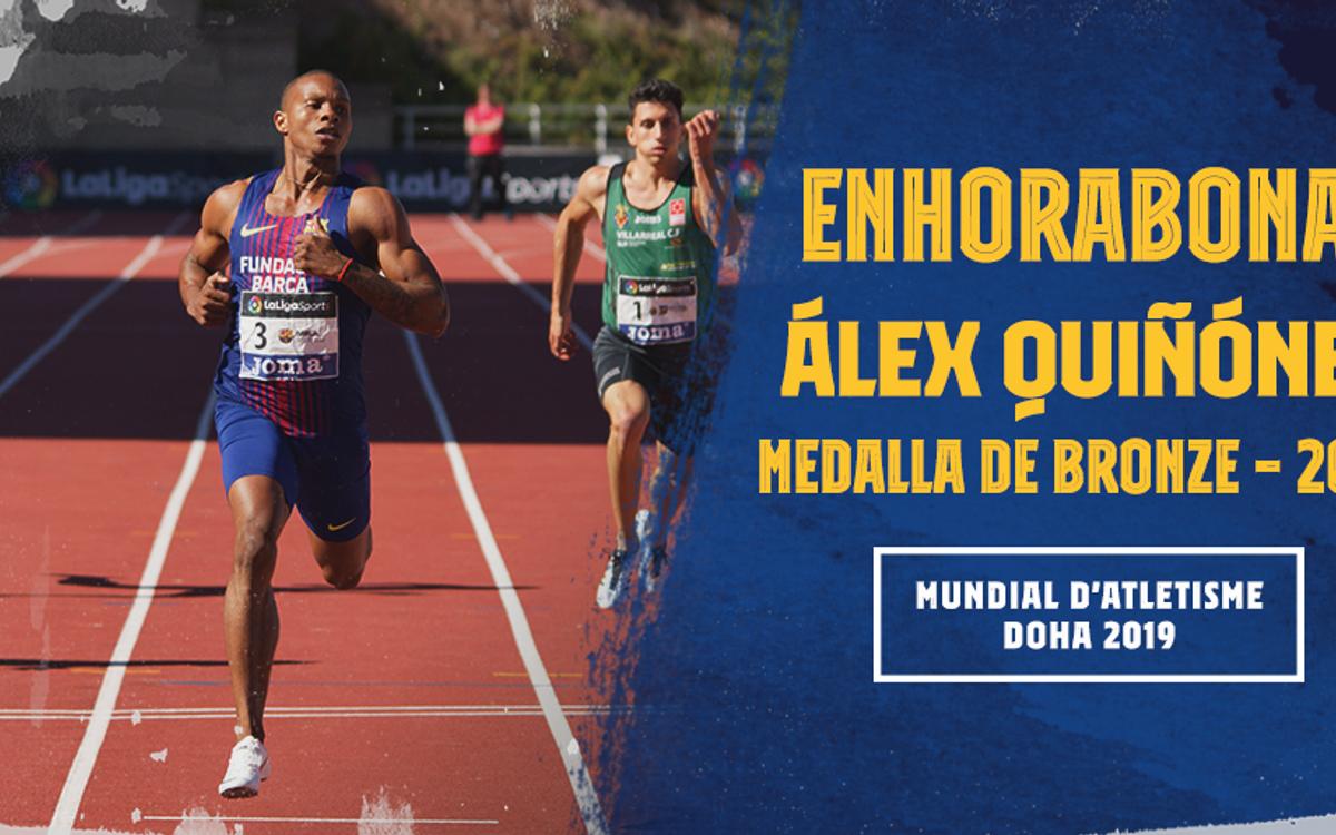 Álex Quiñónez logra el bronce en los 200 metros
